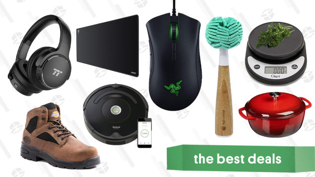 Thursday's Best Deals: Razer DeathAdder, Dickie's Boots, iRobot Roombas, and More